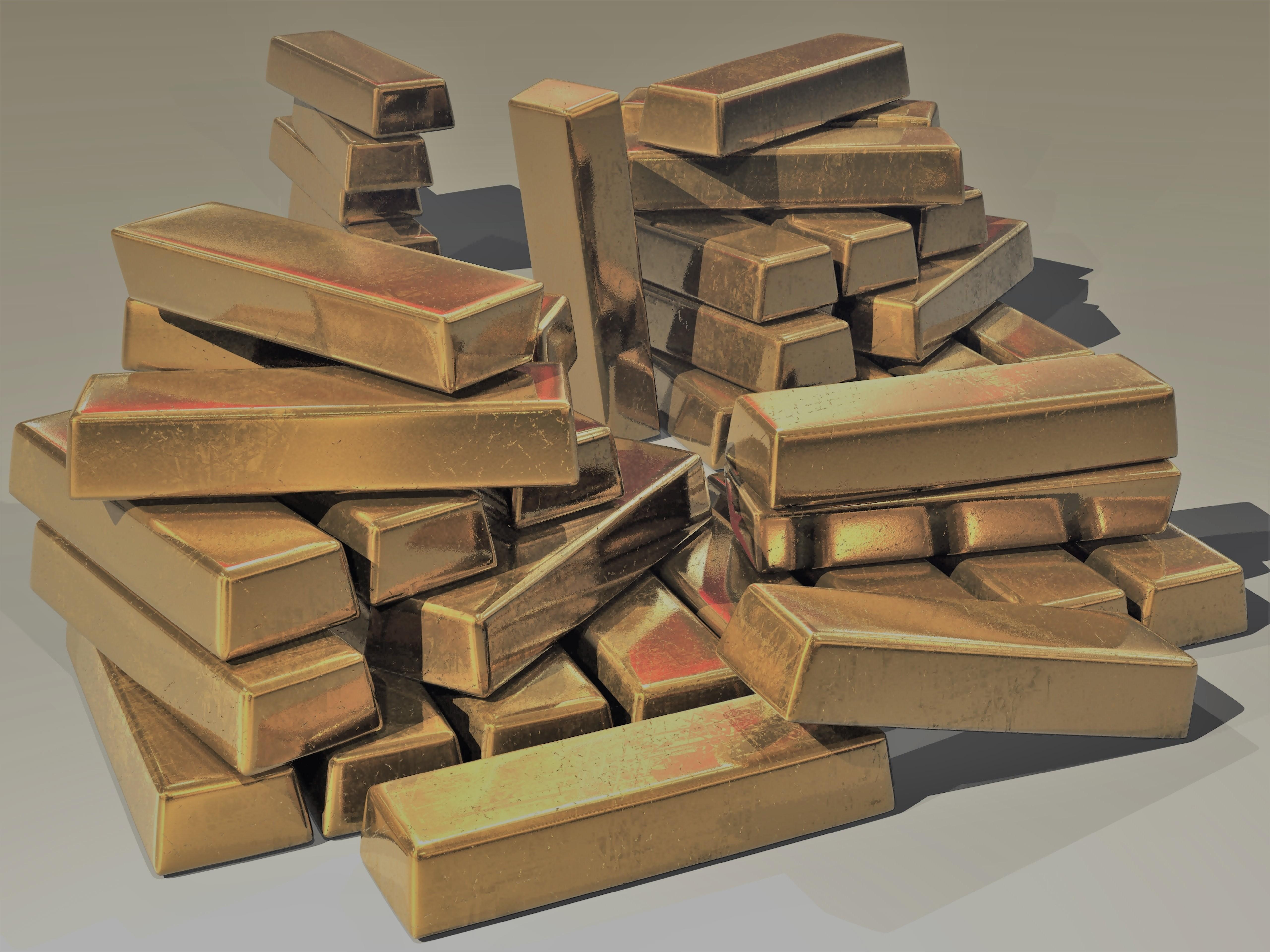 Bullion gold gold bars 47047 donker