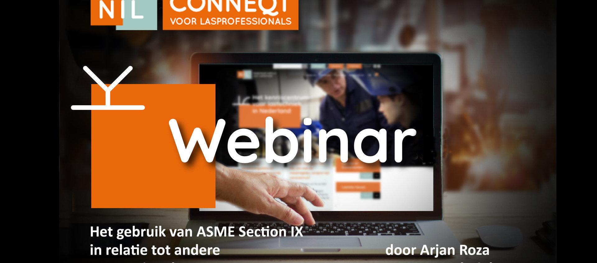 Webinar: Het gebruik van ASME section IX in relatie tot ontwerpnormen - Webinar