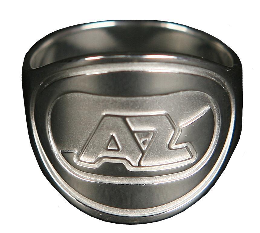 Ring AZ-logo Zilver