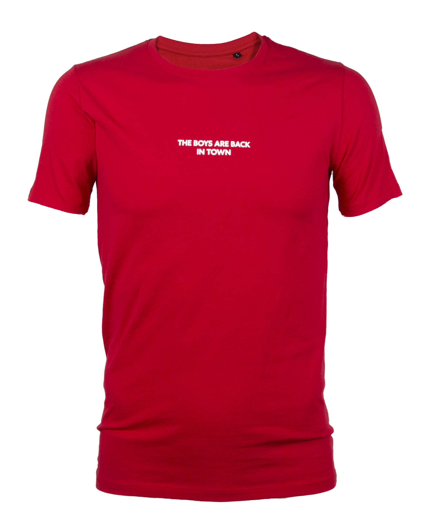 Boys are back t-shirt rood