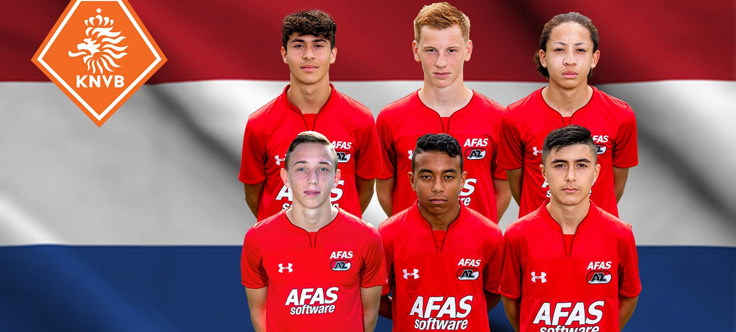 Recordaantal AZ'ers in Oranje Onder 16