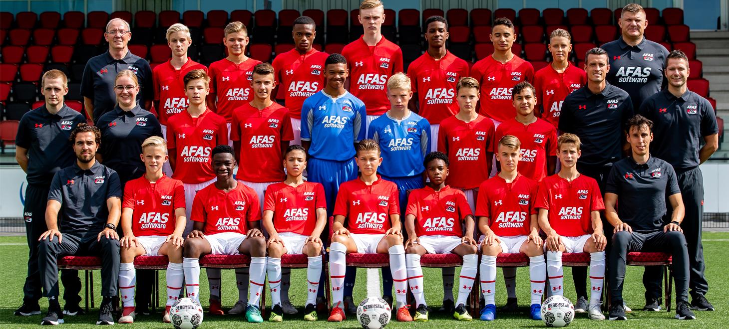 Gelijkspel AZ Onder 15 in Utrecht