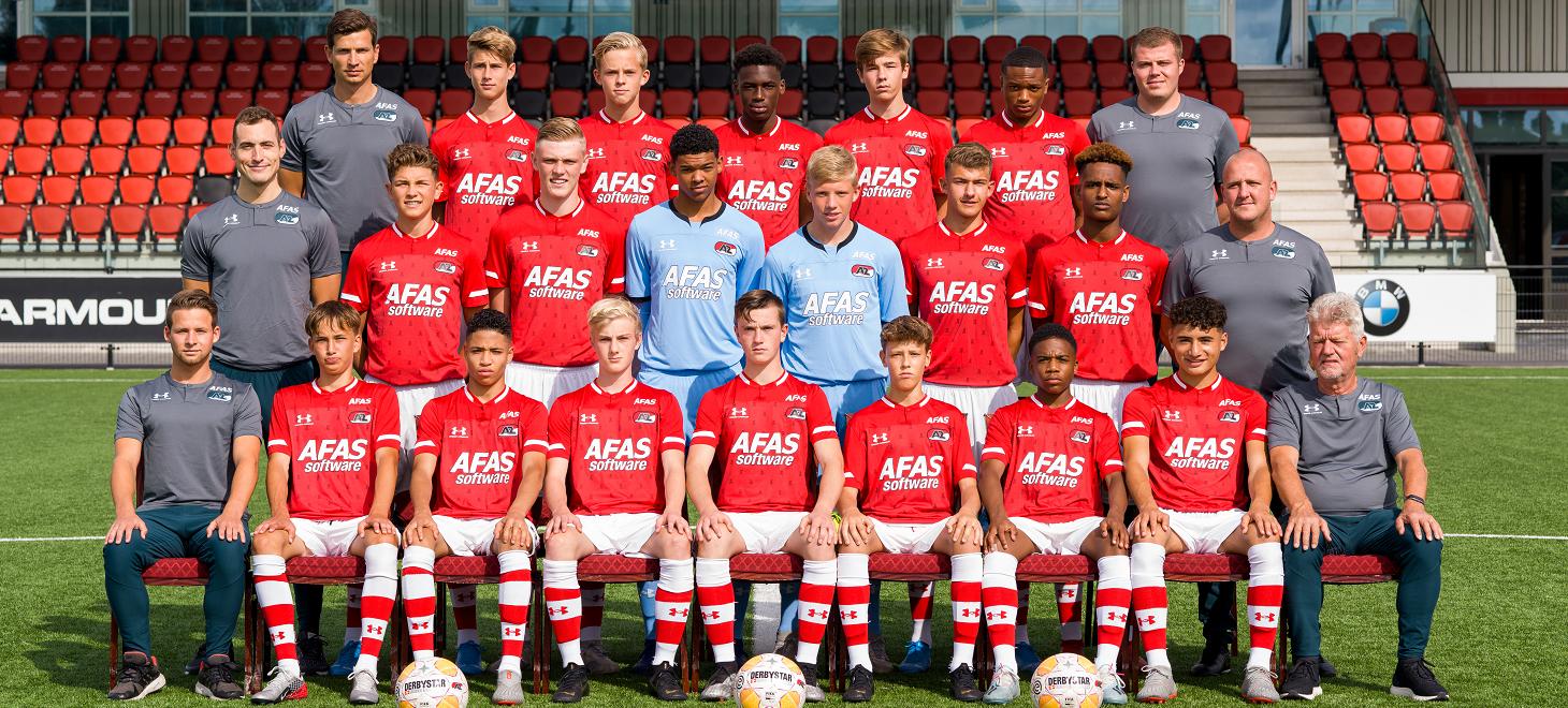 AZ Onder 16 pakt punt bij Ajax