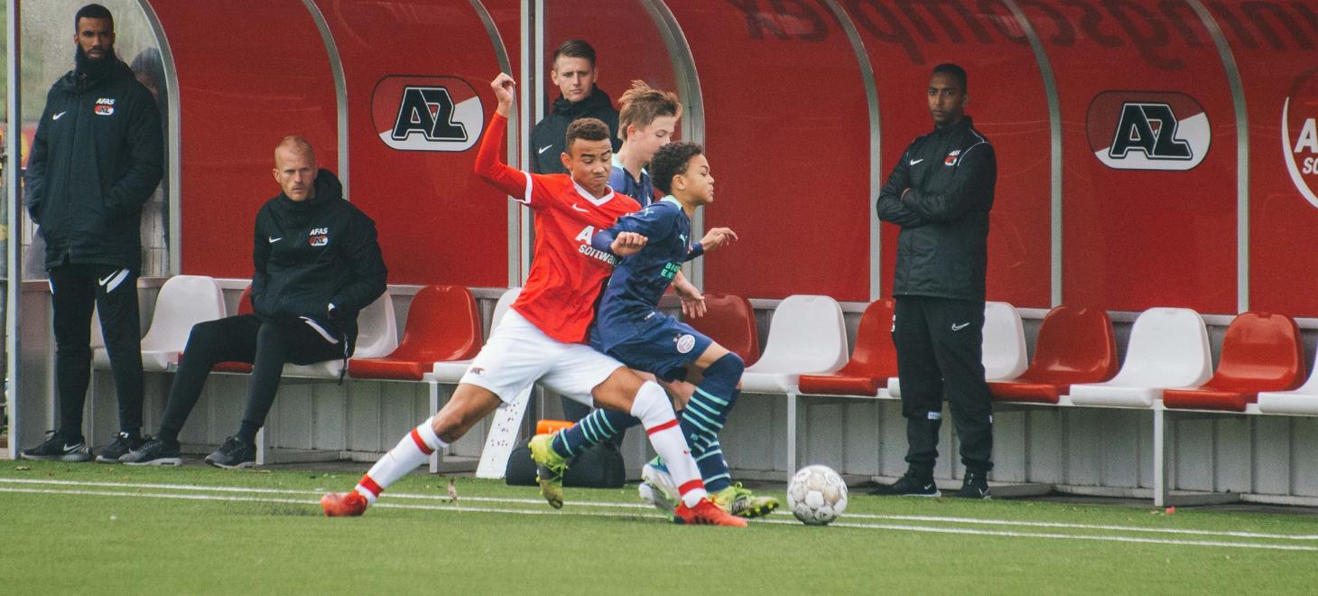 AZ Onder 14 verliest topper tegen PSV