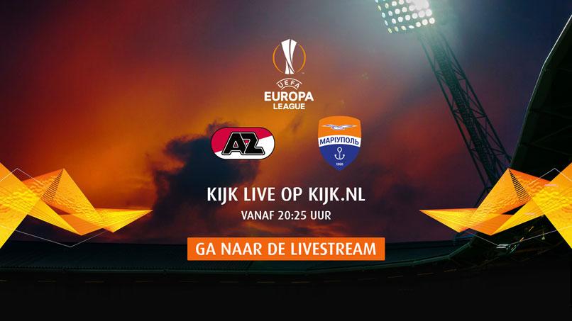 Bekijk de wedstrijd live op kijk.nl