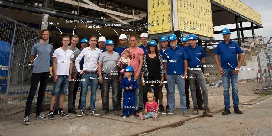 Hoogste punt in recordtempo bereikt; 17 Obdammers bouwen samen aan het Alkmaarse pand