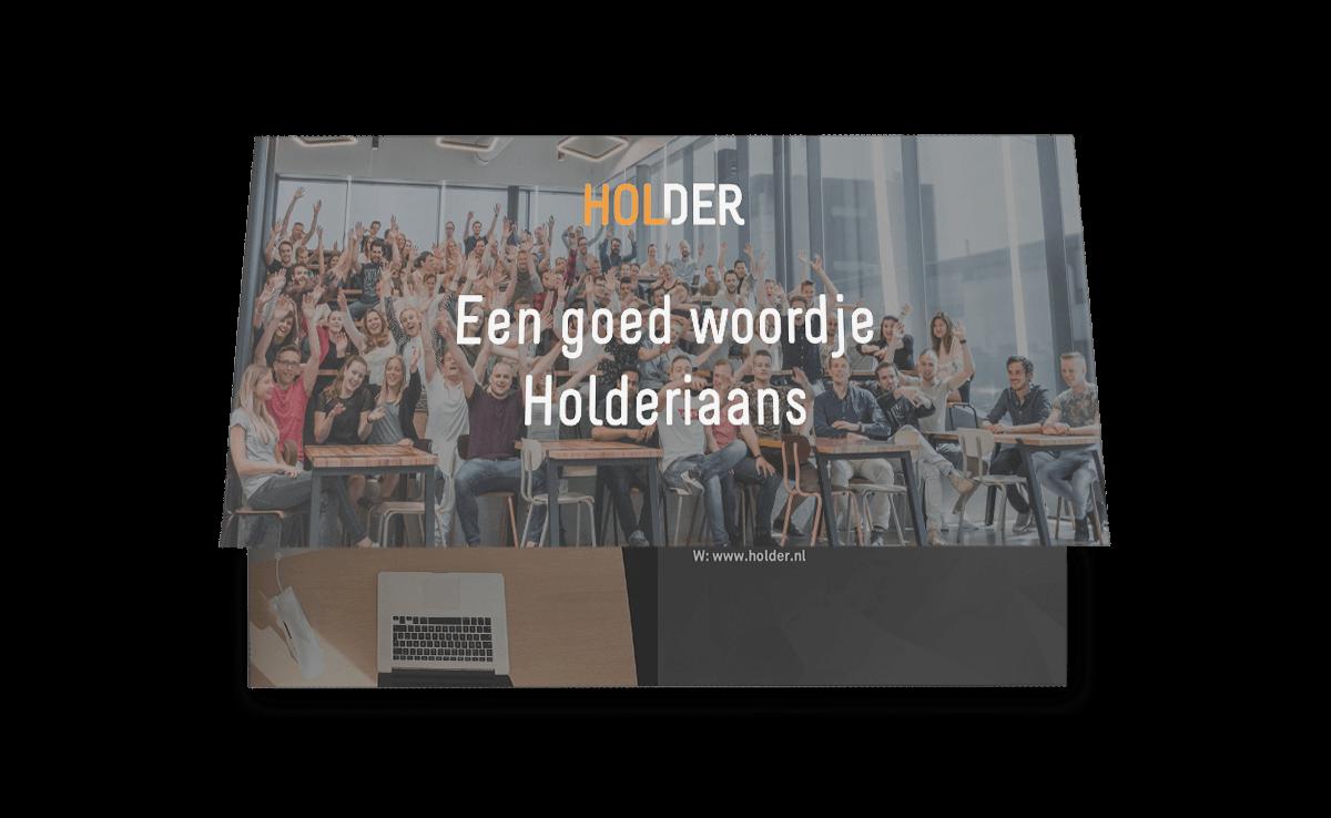 Infographic: Een goed woordje Holderiaans | Holder