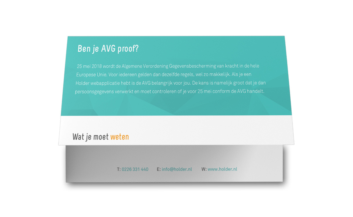 Infographic: De Holderiaanse AVG infographic