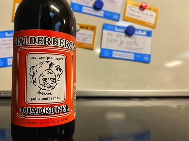 Halderbergs Quadrupel van Brouwerij 't Meuleneind