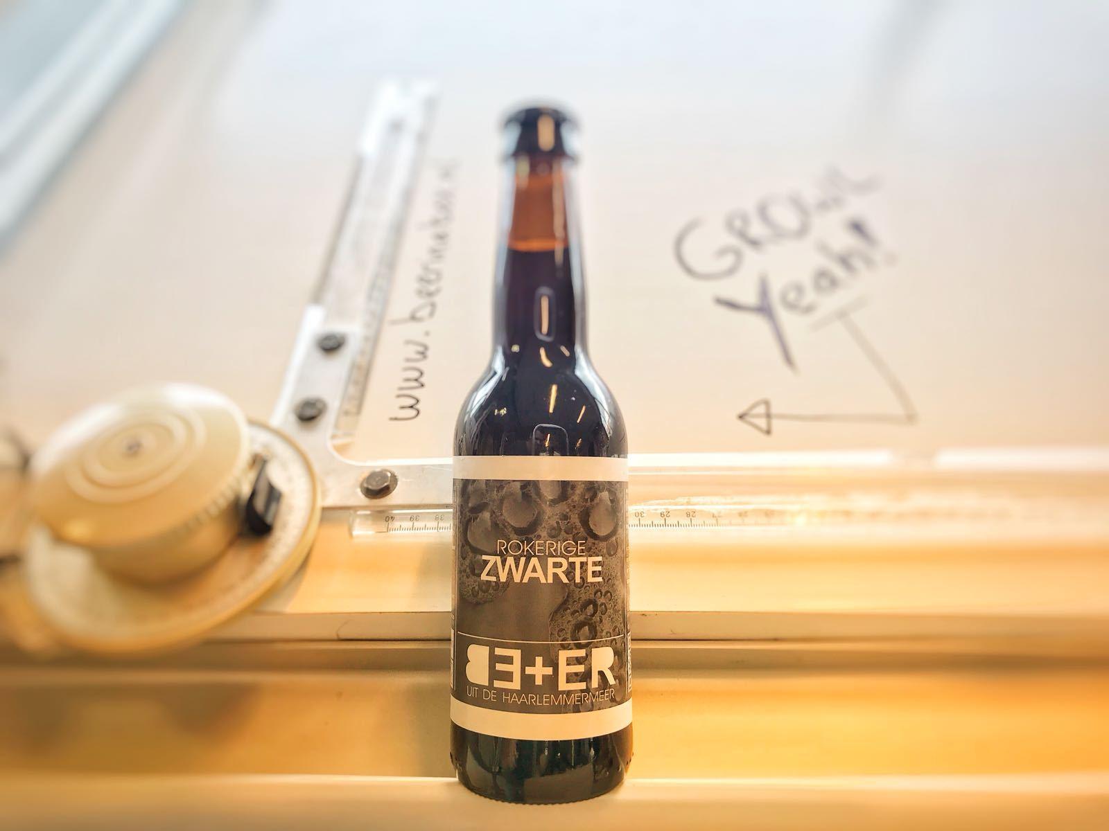 Rokerige Zwarte van BE+ER Bierbrouwers