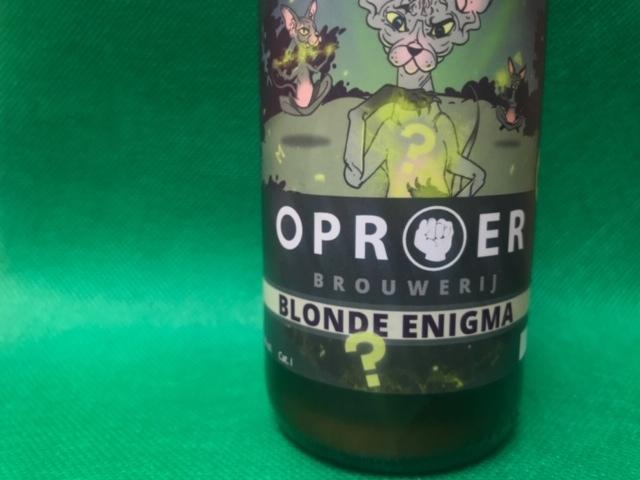 Blonde Enigma van Oproer Brouwerij