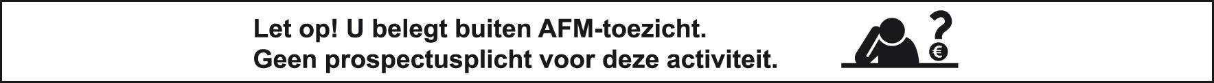 AFM vrijstelling prospectus